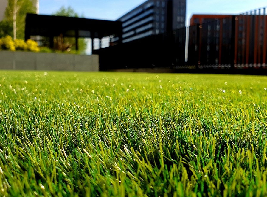 fake grass drainage